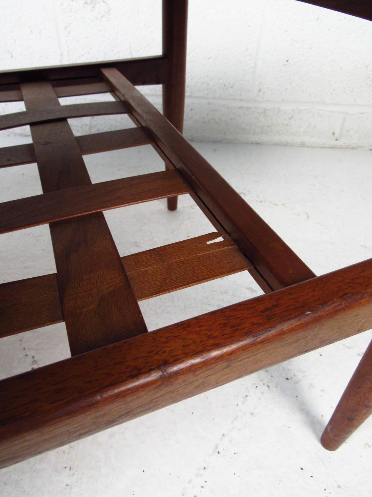 Scandinavian Modern Surfboard Coffee Table With Shelf For Sale 3