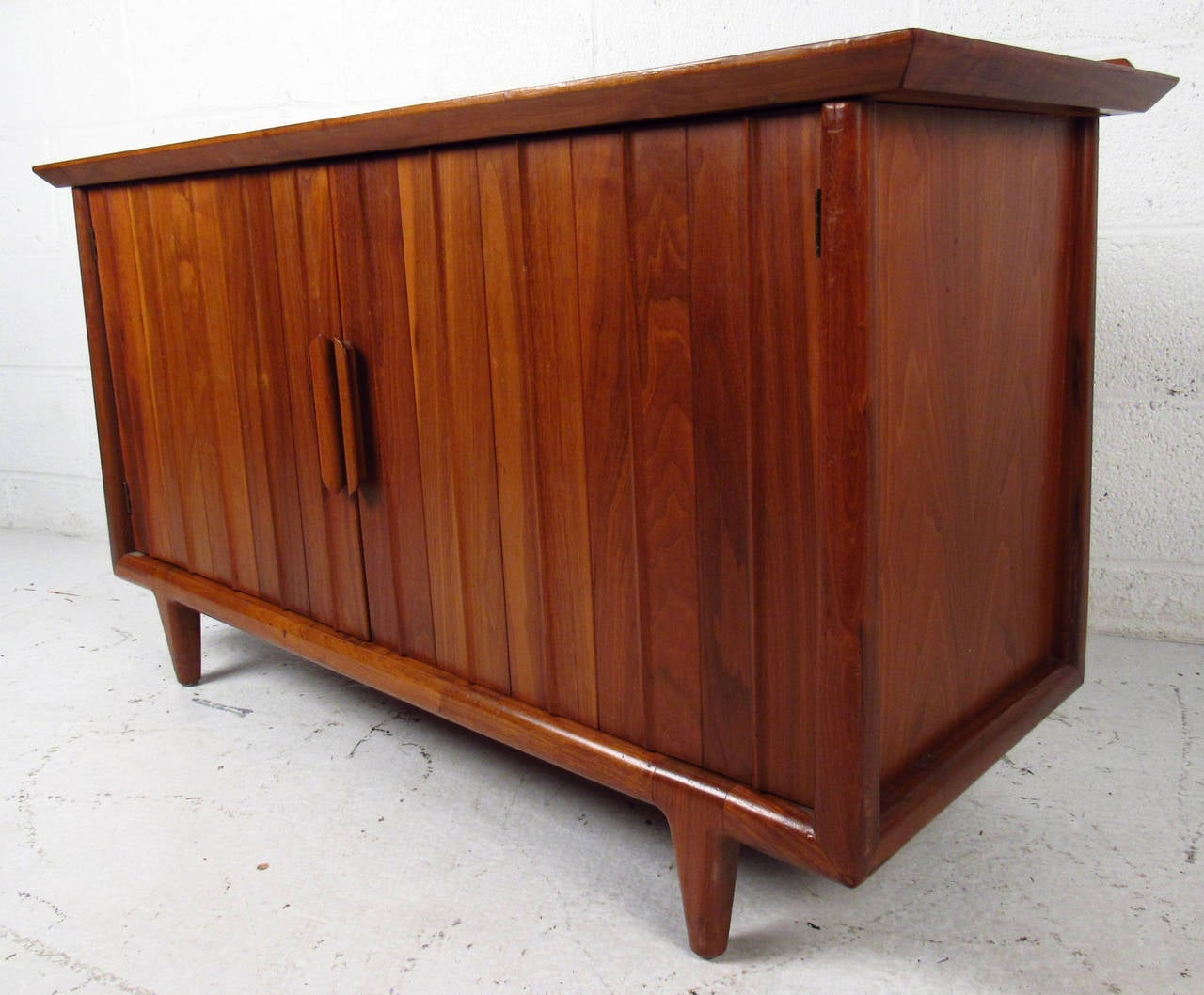 Mid Century Two-Door Cabinet by Heritage Henredon For Sale at 1stdibs