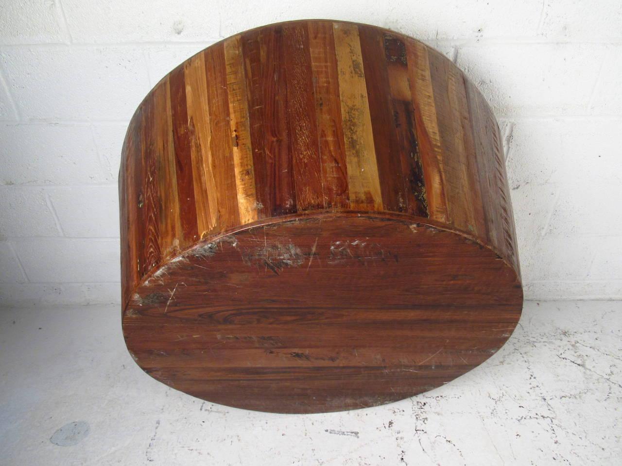 Distressed Drum Coffee Table At 1stdibs