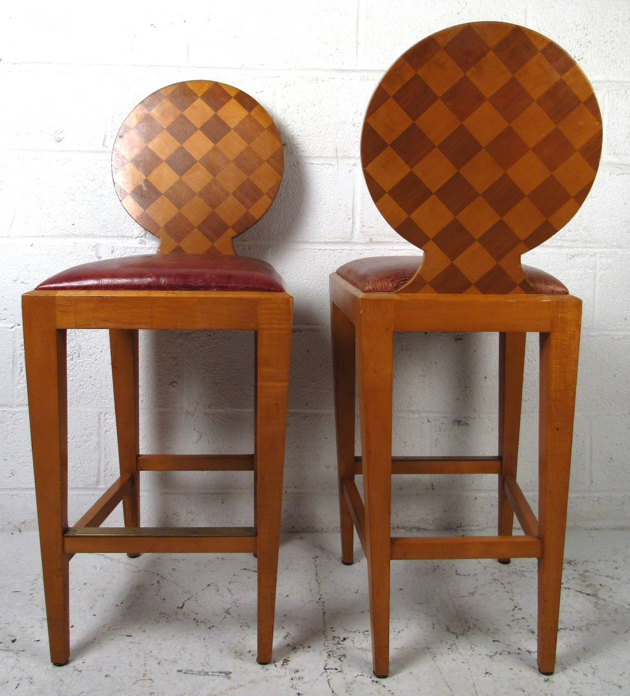Italian Modern Sculptural Bar Stools By Angelo Donghia For