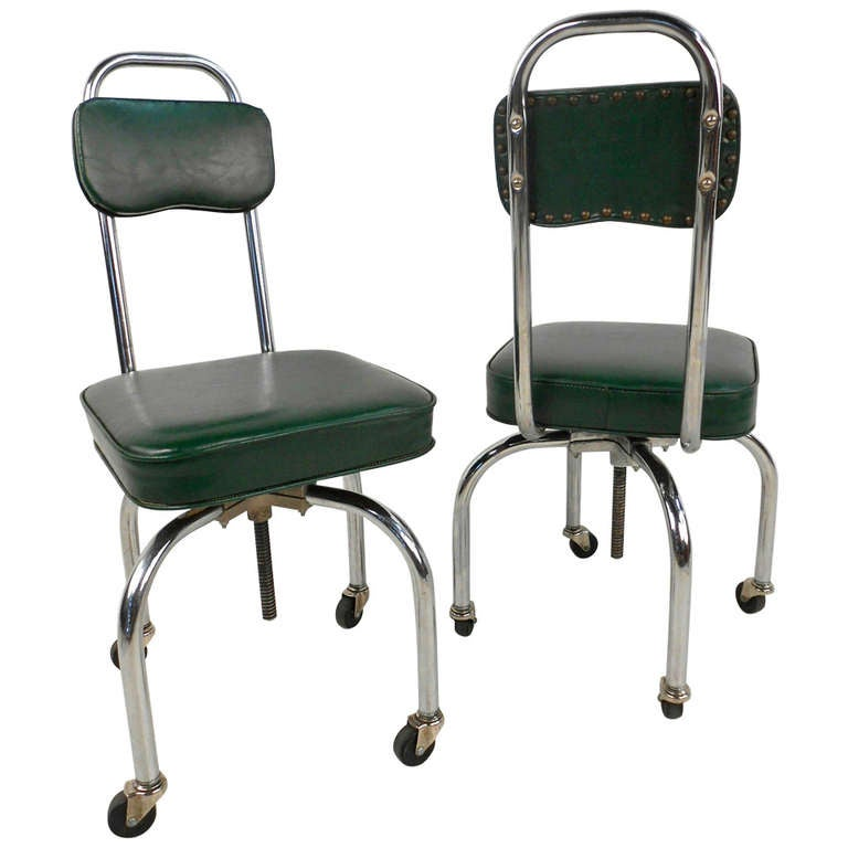 Weird Furniture For Sale: Unique Pair Of Rolling Swivel Lab Chairs For Sale At 1stdibs