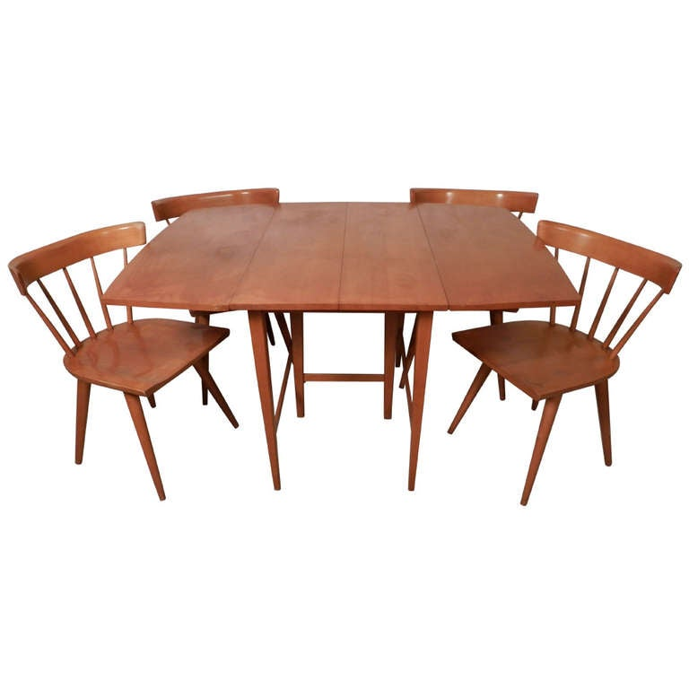 outstanding mid century modern dining set by paul mccobb with leaves