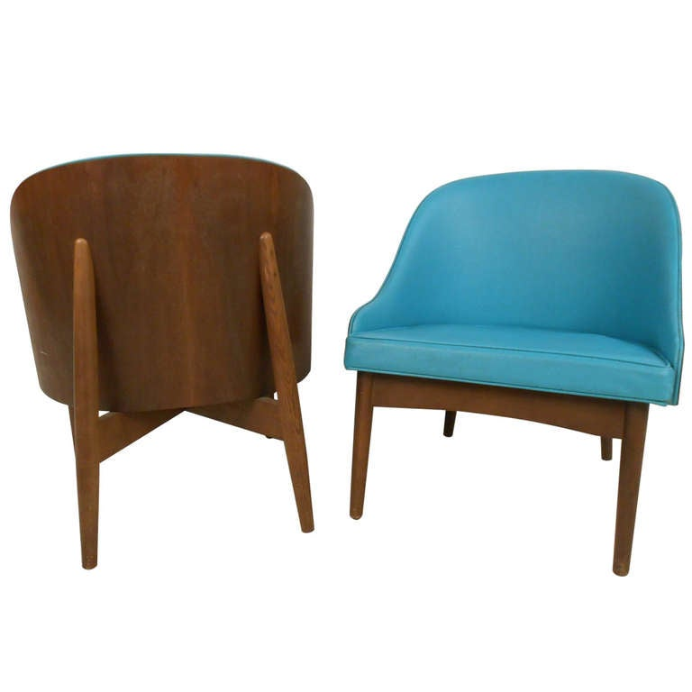 pair mid century modern side chairs for sale at 1stdibs. Black Bedroom Furniture Sets. Home Design Ideas