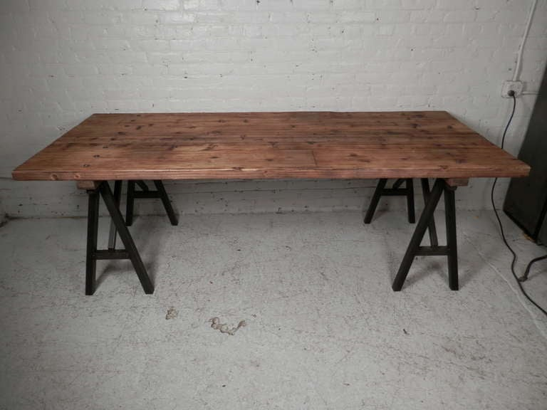 Large Industrial Style Table at 1stdibs : P4100074l from www.1stdibs.com size 768 x 576 jpeg 40kB