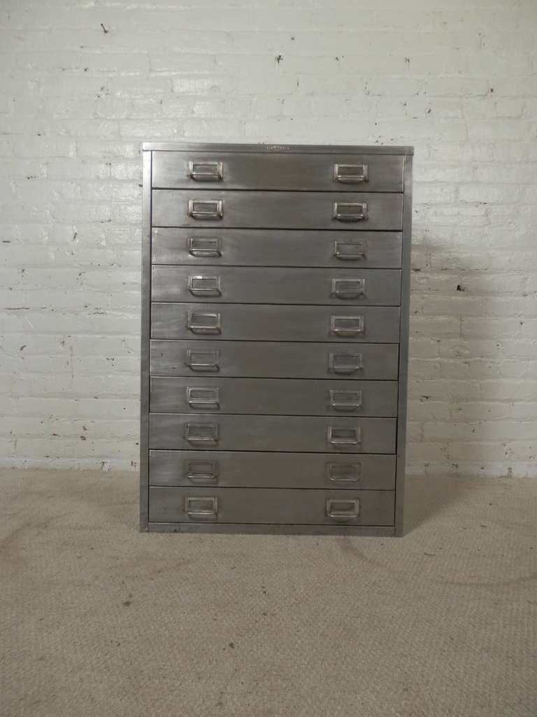 Cole steel vintage flat file cabinet at 1stdibs cole steel vintage flat file cabinet for sale 4 malvernweather Images