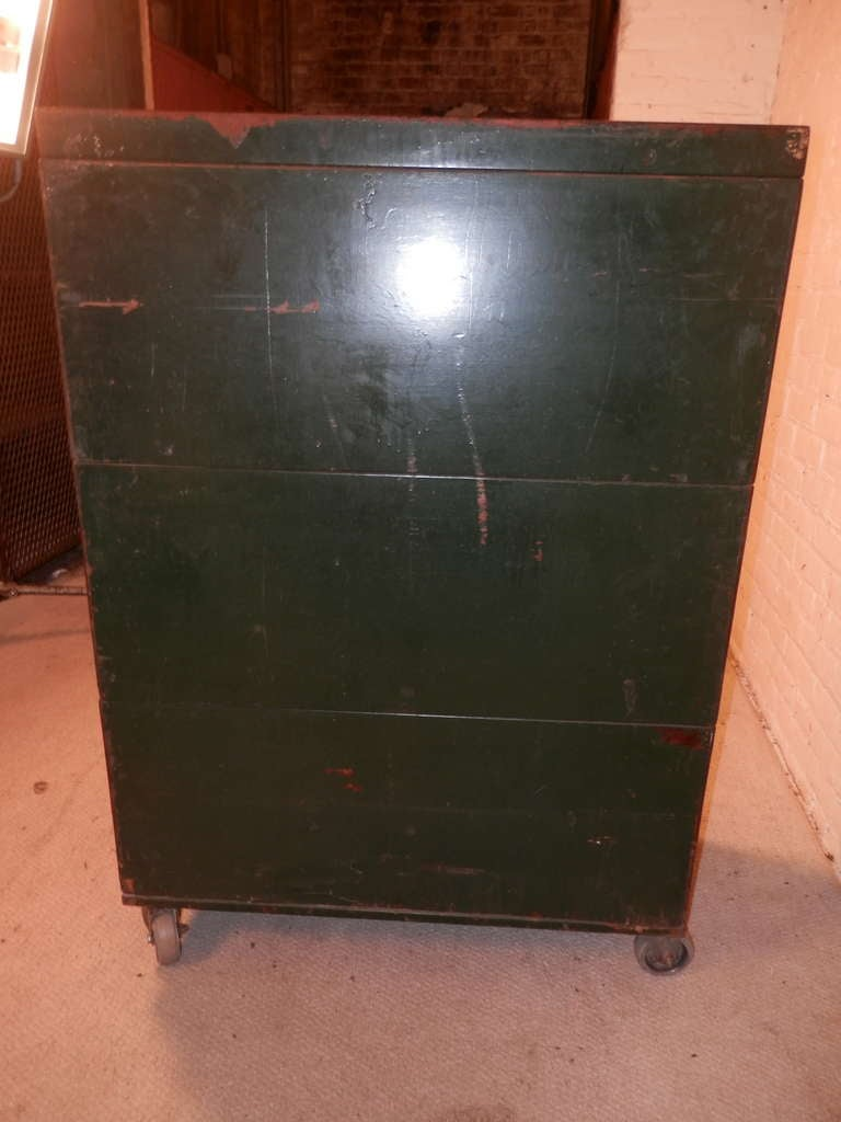 Rare Stack Library File Cabinet On Casters At 1stdibs