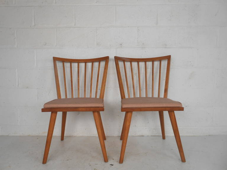 Mid-Century Modern Leslie Diamond Dining Chairs by Conant Ball For Sale