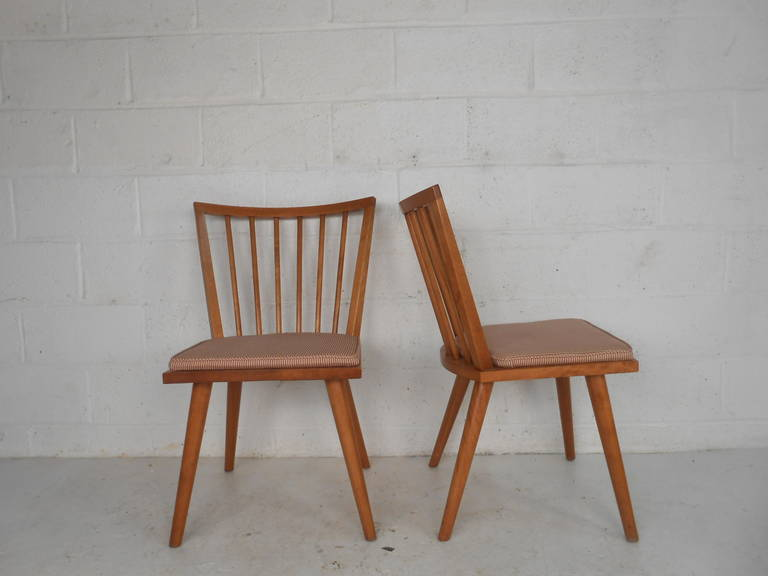 American Leslie Diamond Dining Chairs by Conant Ball For Sale