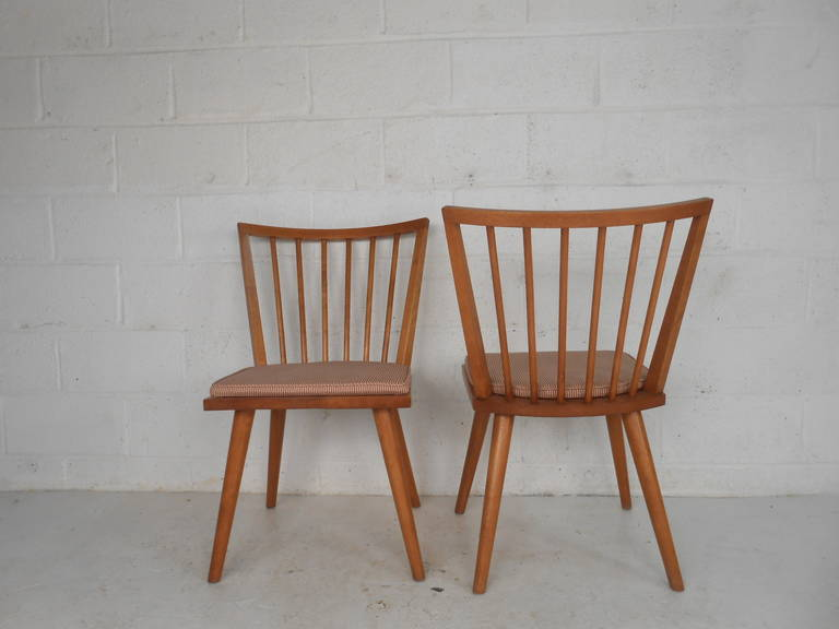 Leslie Diamond Dining Chairs by Conant Ball In Good Condition For Sale In Brooklyn, NY