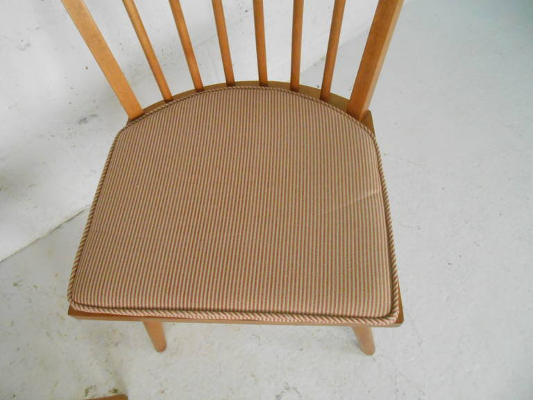 Mid-20th Century Leslie Diamond Dining Chairs by Conant Ball For Sale