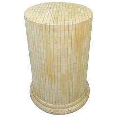 Vintage Tessellated Bone Pedestal in the Style of Enrique Garcel