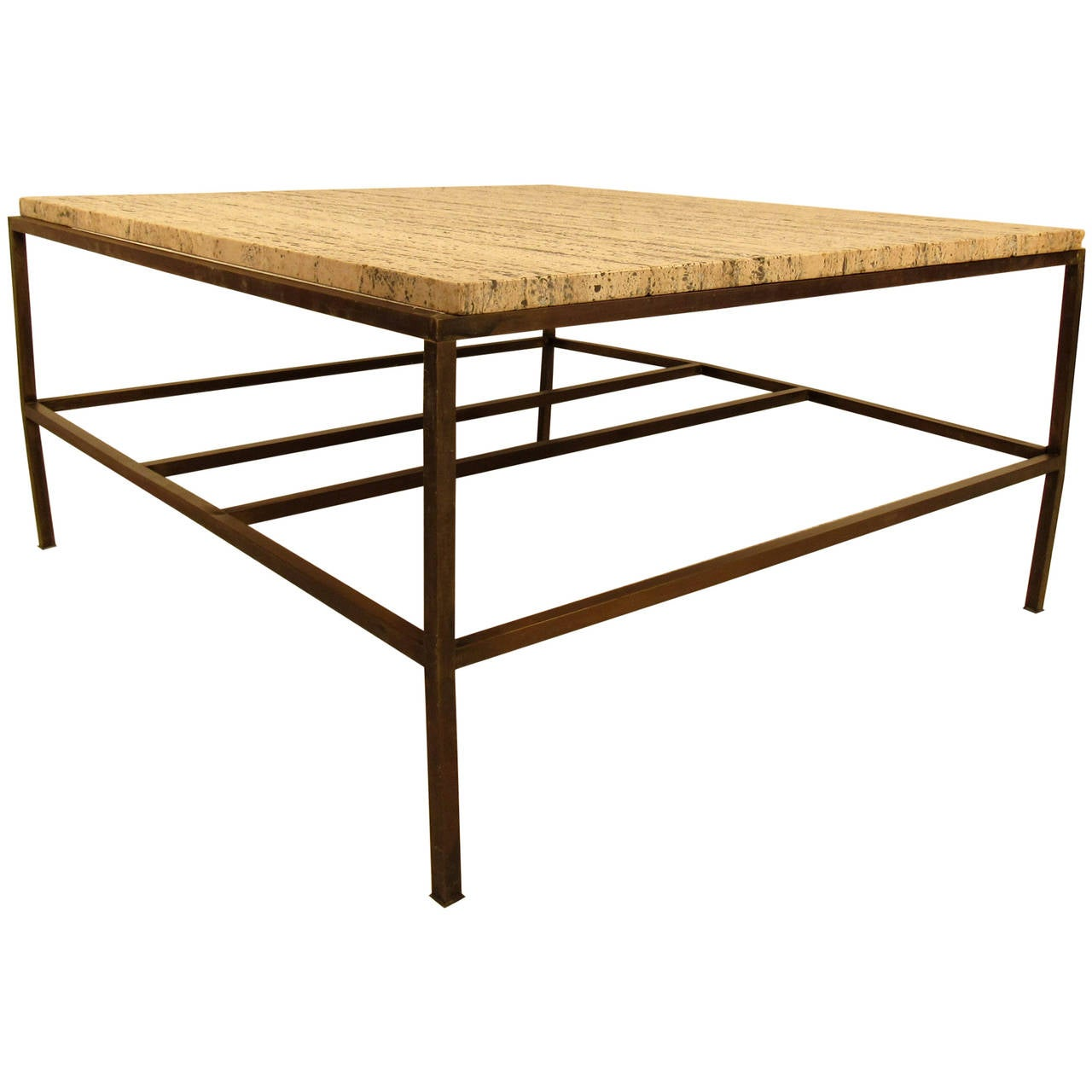 Mid Century Modern Marble Top Coffee Table: Mid Century Marble-Top Coffee Table By Paul McCobb For