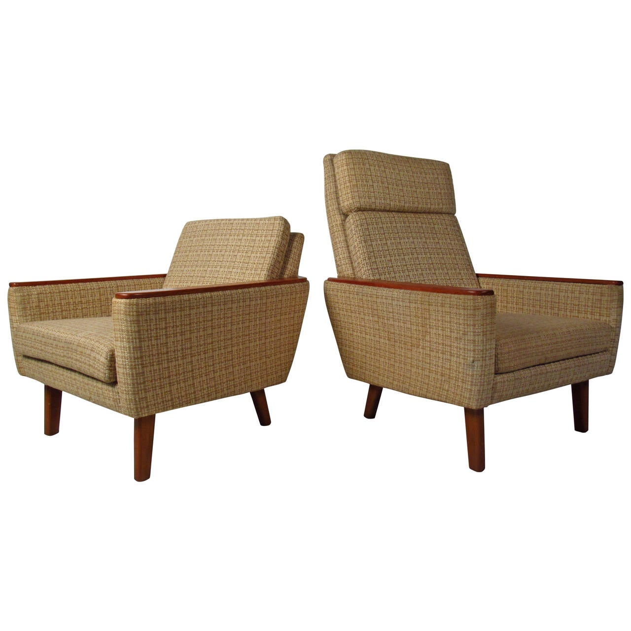 "Mid-Century ""Mama and Papa"" Danish Armchairs"