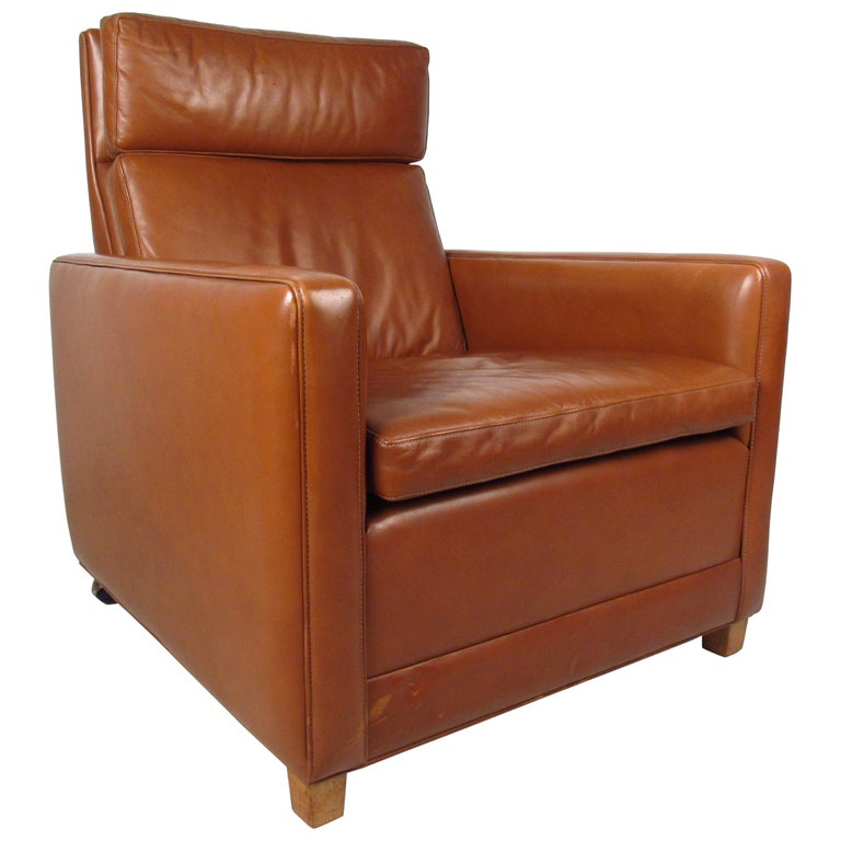 Børge Mogensen Leather Lounge Chair For Sale