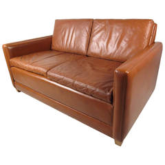 Børge Mogensen Leather Two-Seat Sofa