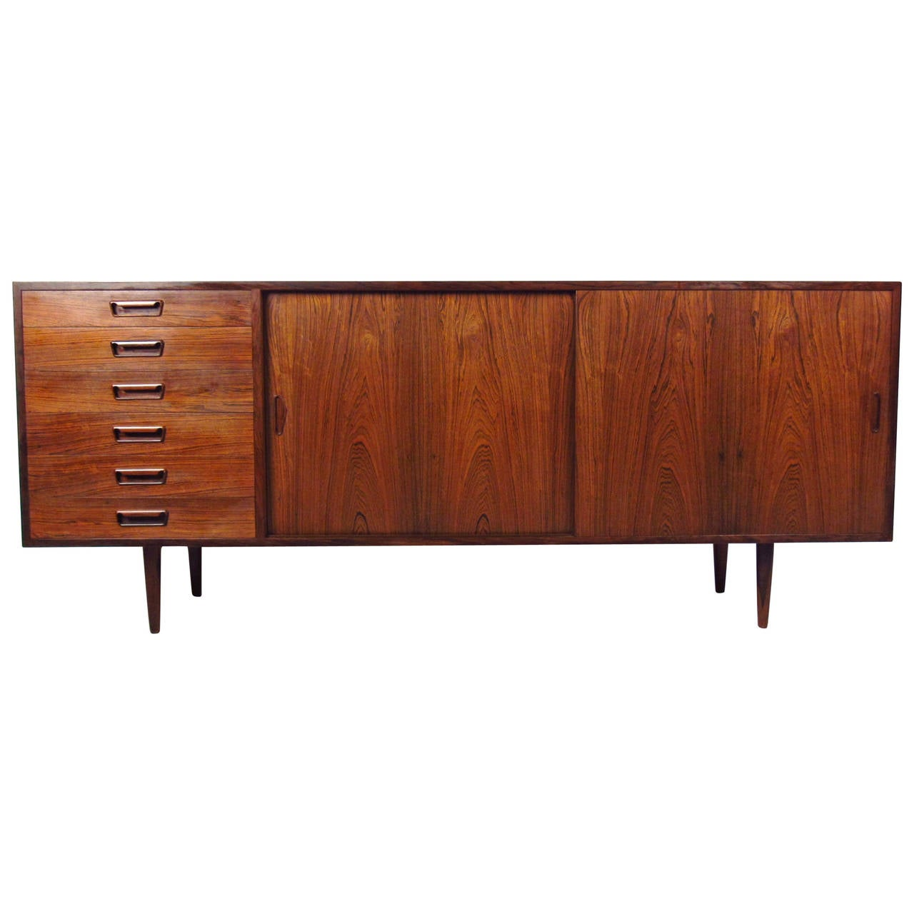 Exquisite Danish Rosewood Sideboard