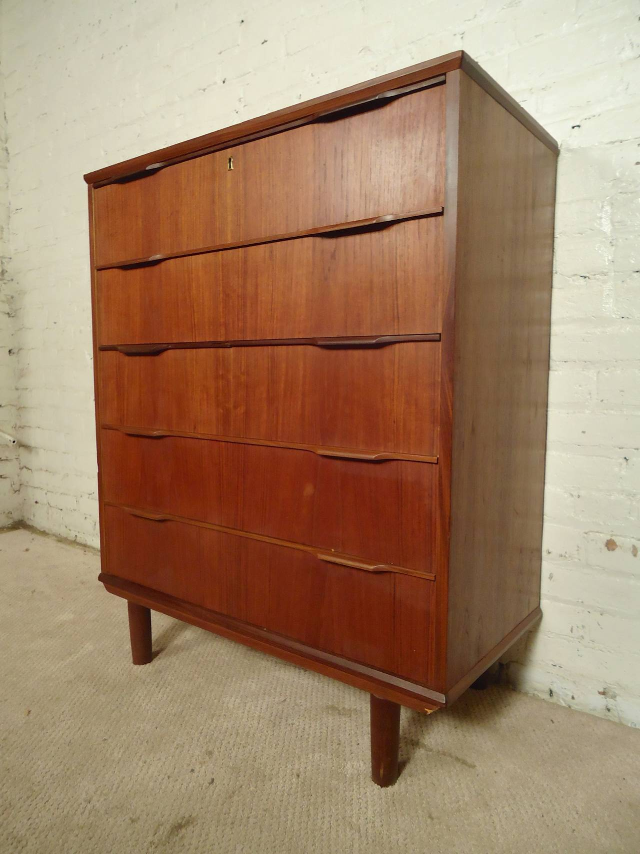 #7C3719 Danish Modern Tall Dresser For Sale At 1stdibs with 1280x1706 px of Best Modern Tall Dresser 17061280 image @ avoidforclosure.info