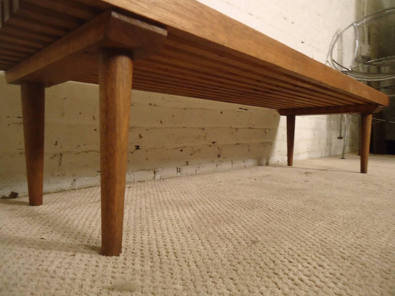 Mid-20th Century Mid-Century Modern Slat Bench For Sale