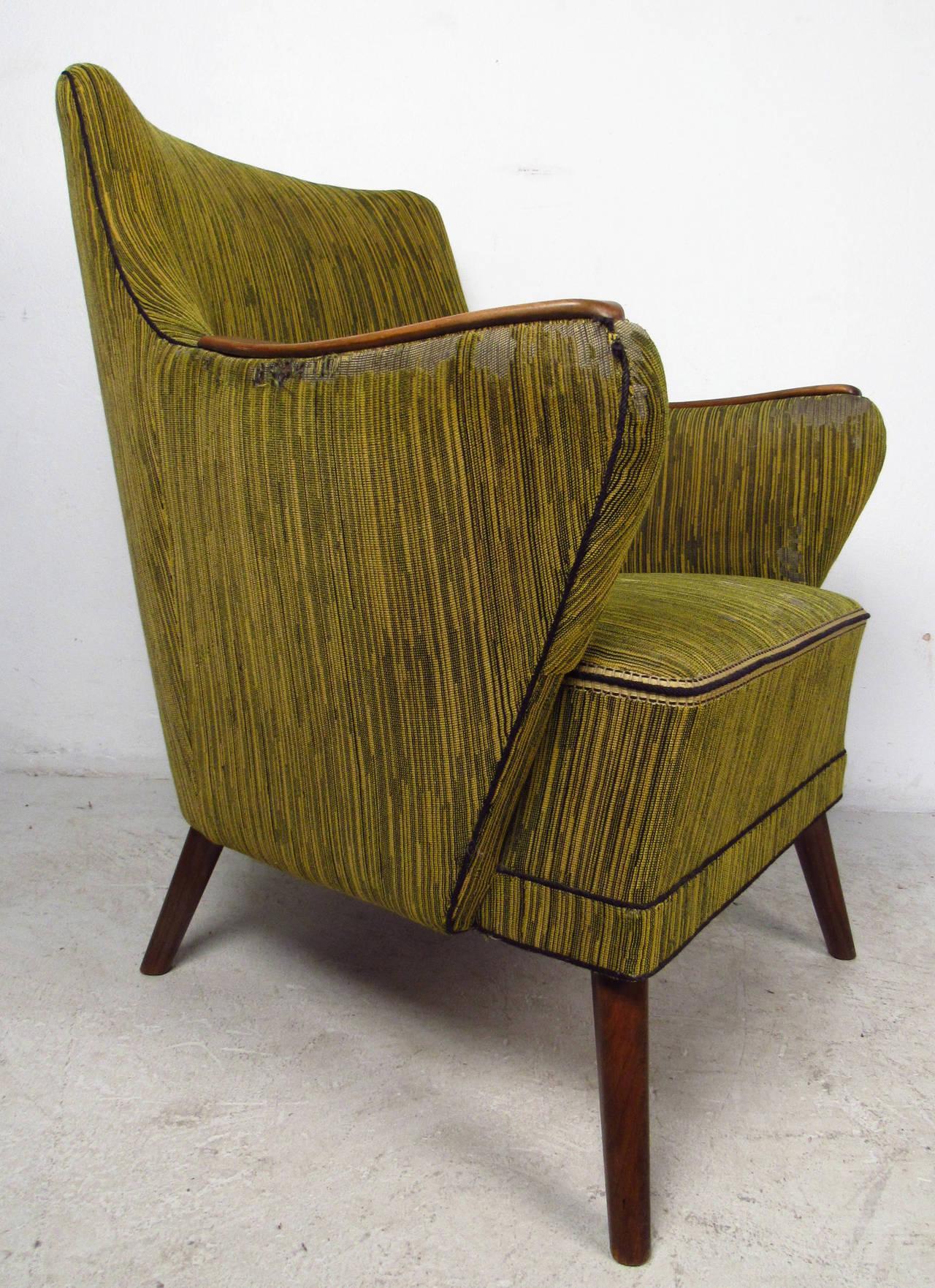 Mid-Century Modern Midcentury Mogens Lassen Style Lounge Chair For Sale