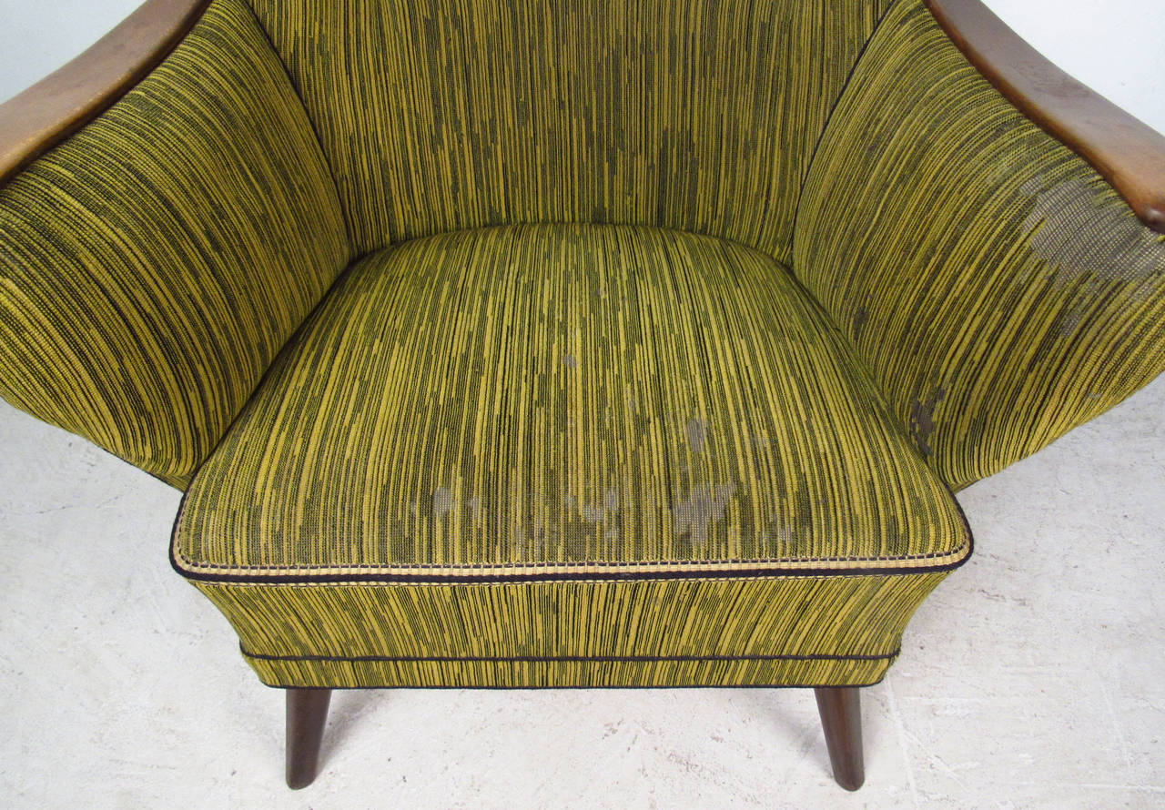 Midcentury Mogens Lassen Style Lounge Chair For Sale 1