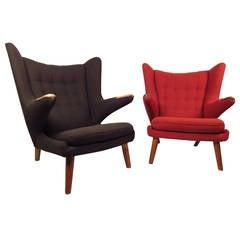 Pair of Mid-Century Modern Papa Bear Chairs by Hans J. Wegner