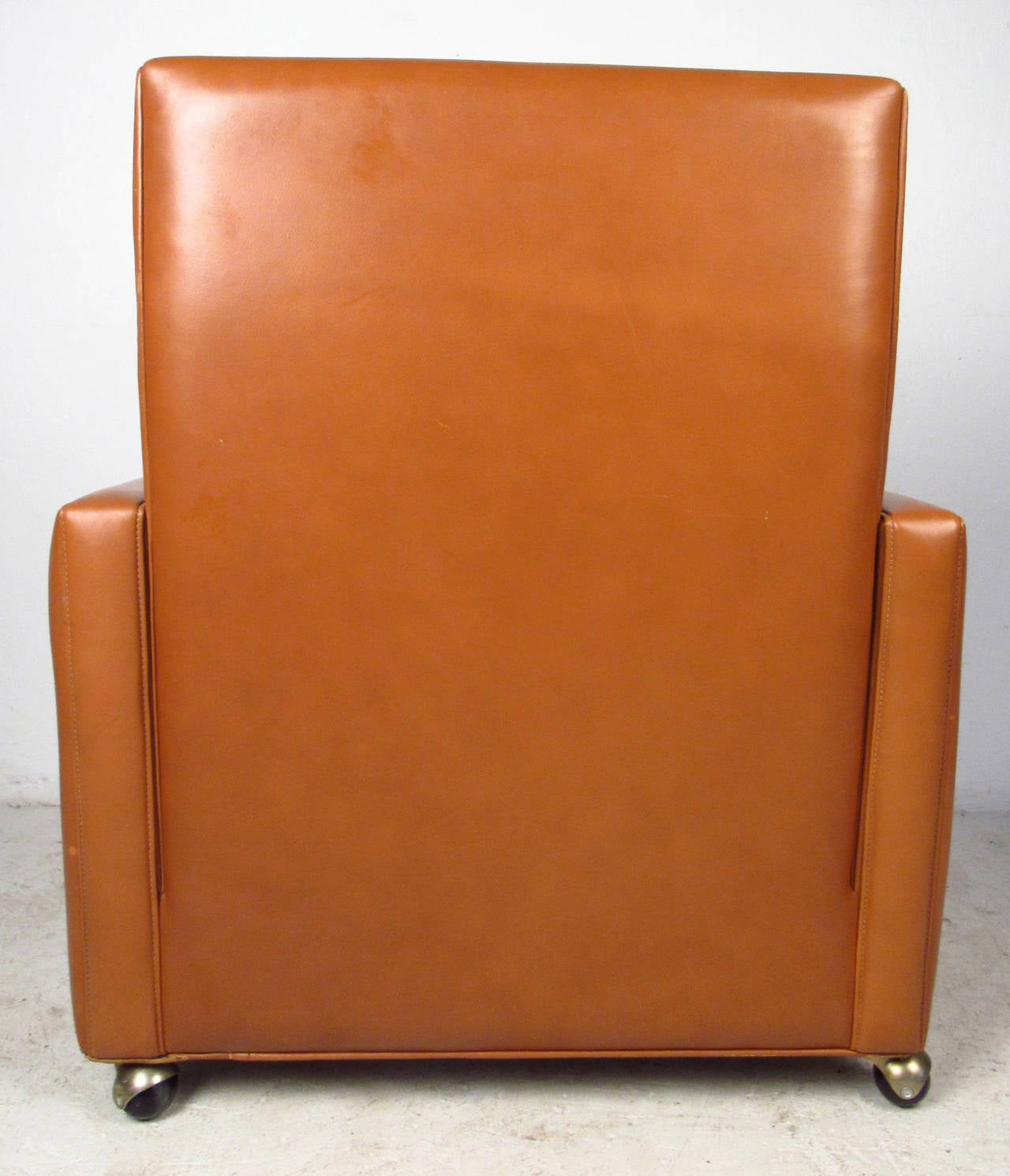 Danish Børge Mogensen Leather Lounge Chair For Sale