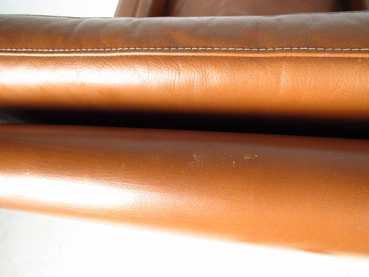 Børge Mogensen Leather Lounge Chair For Sale 2