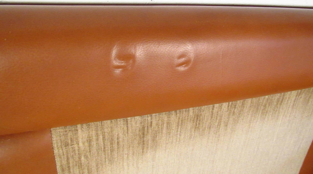 Vintage Leather Sofa in the Style of Borge Mogensen For Sale 3