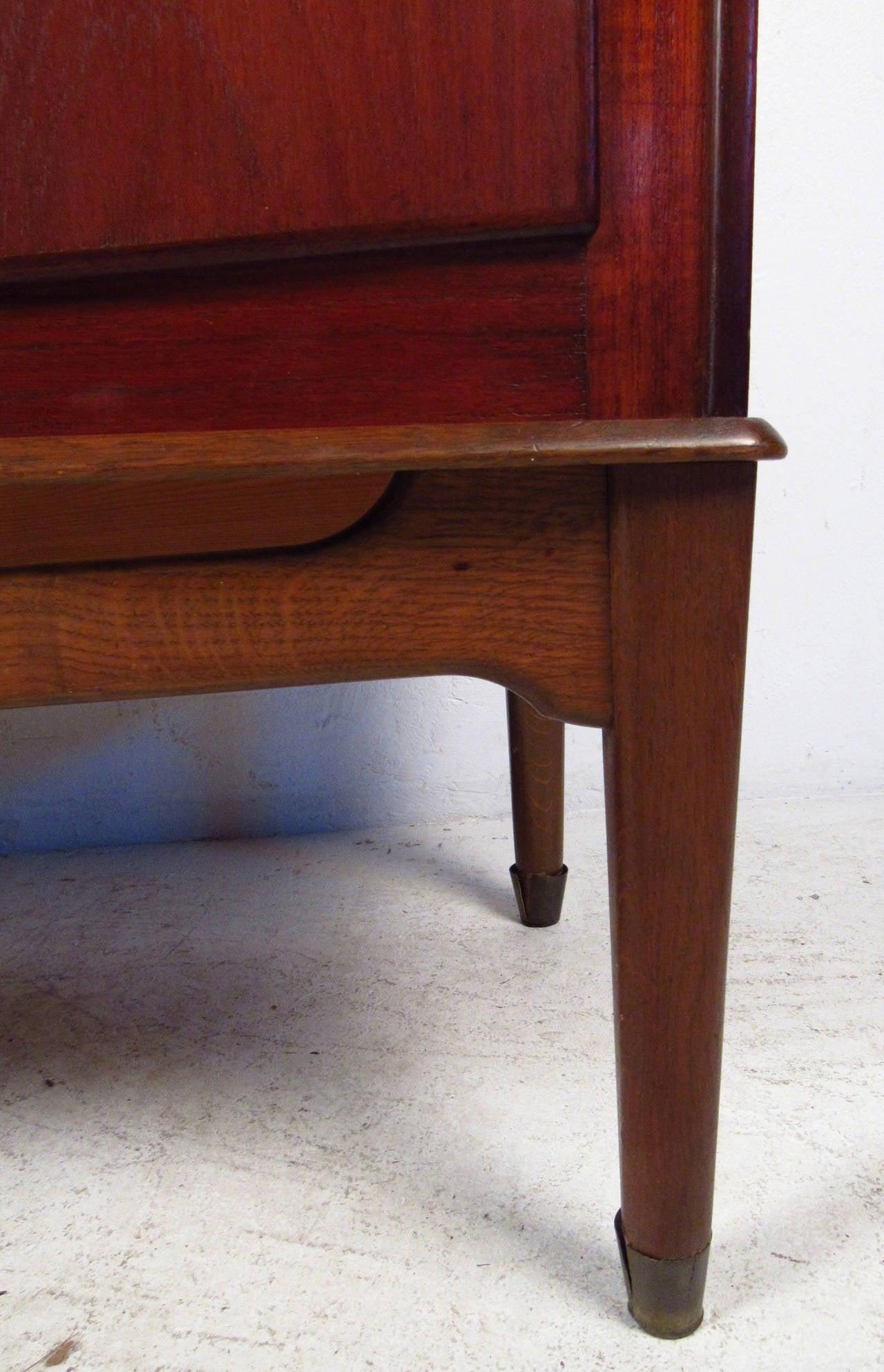 Scandinavian Modern Teak Armoire In Good Condition For Sale In Brooklyn, NY