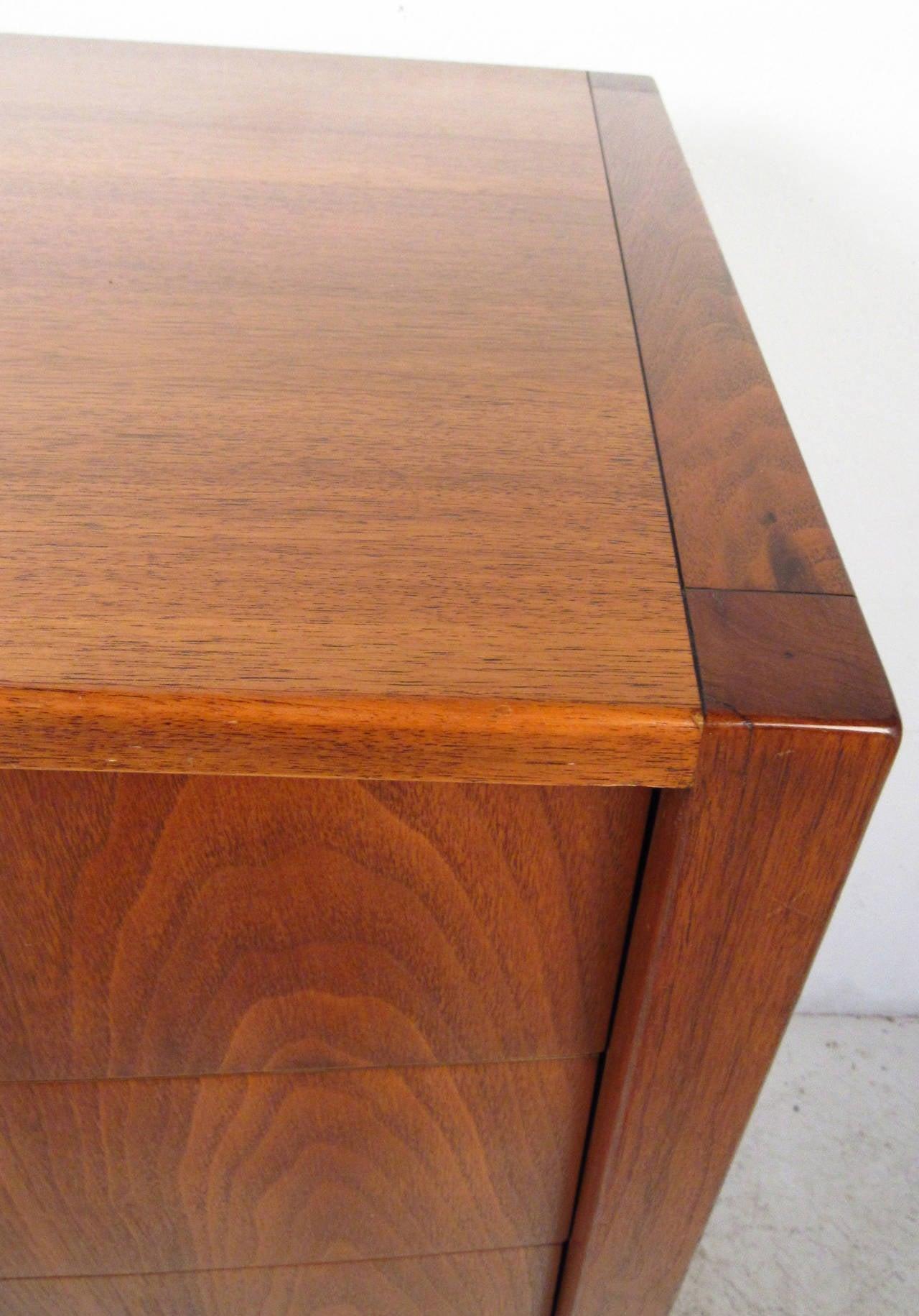sligh furniture office room. Mid-20th Century Vintage American Walnut Dresser With Chrome Accenting By Sligh Furniture For Sale Office Room R