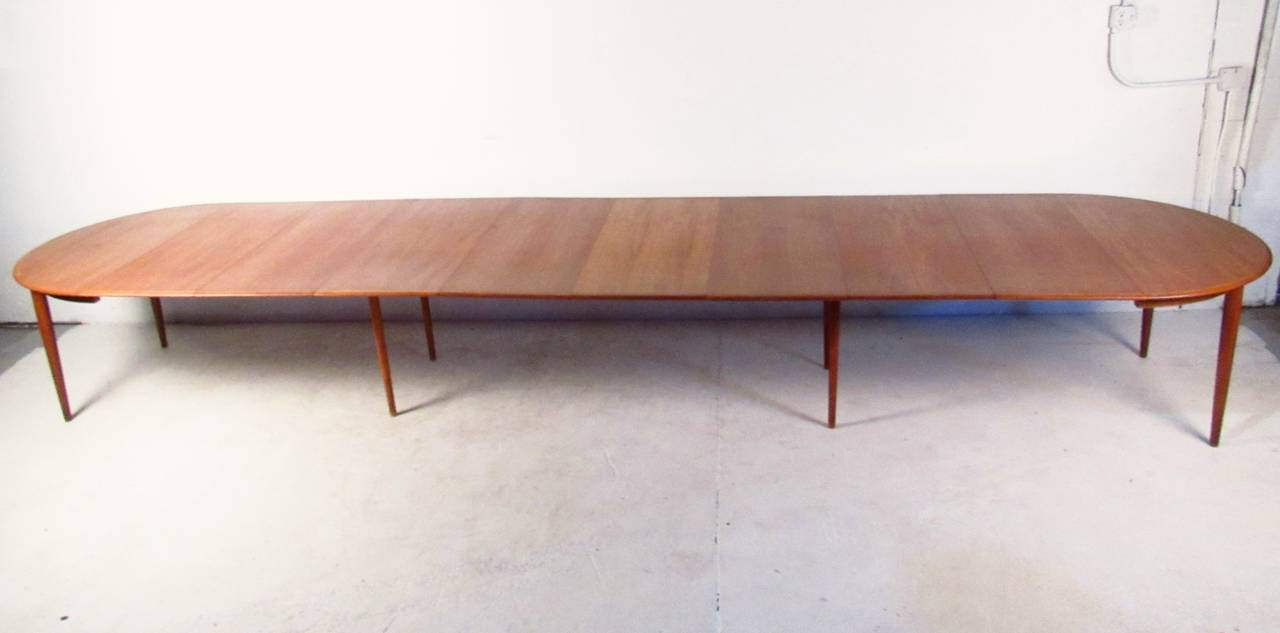 Massive MidCentury Teak Conference Table With Eric Buck Dining - Mid century conference table