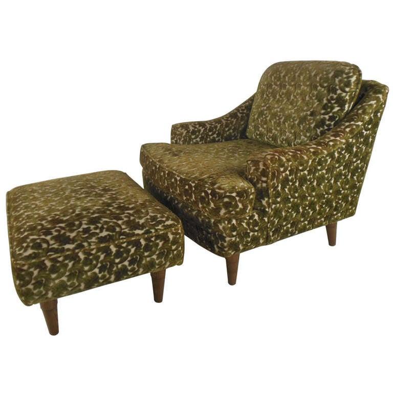 Selig Monroe Lounge Chair and Ottoman at 1stdibs