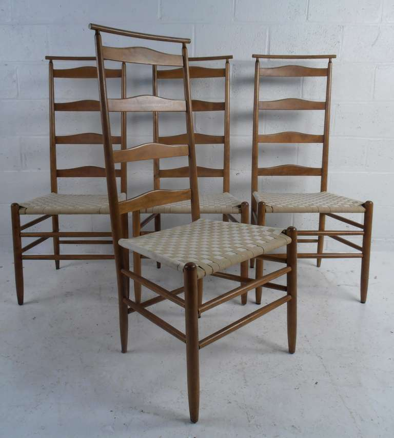 American Craftsman Ladderback Chairs By Nichols Stone For