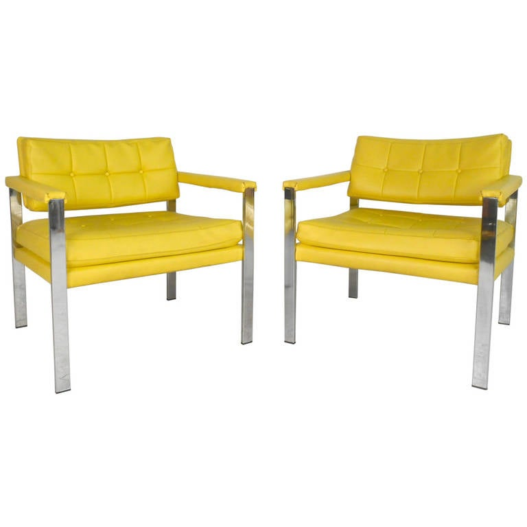 Mid-Century Modern Milo Baughman Armchairs For Sale
