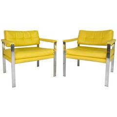 Mid-Century Modern Milo Baughman Armchairs