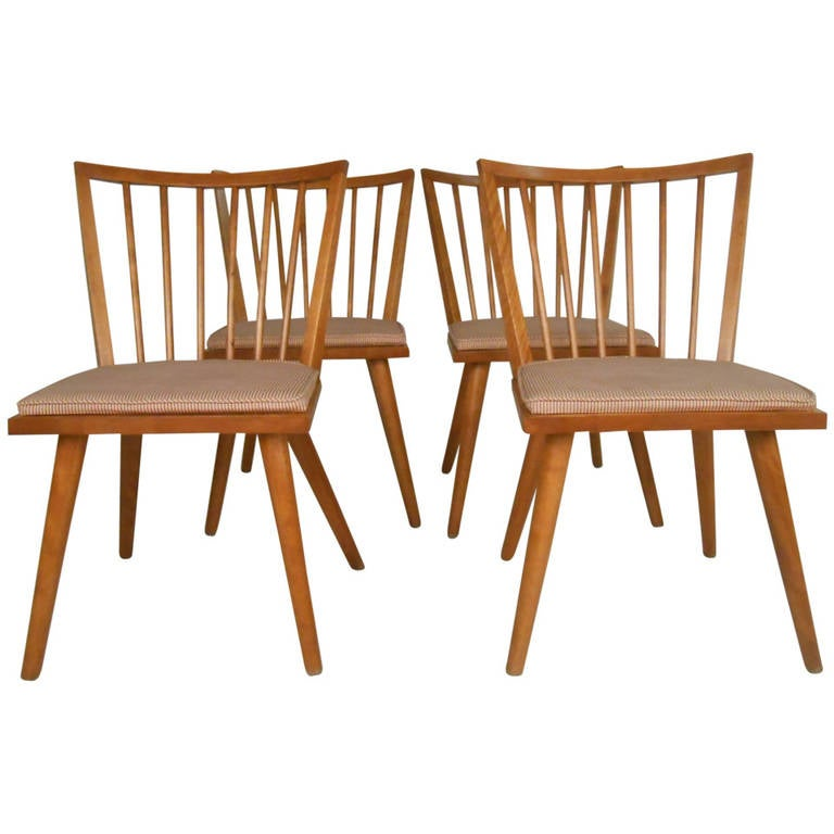 Set of Four Leslie Diamond for Conant-Ball Mid-Century Chairs