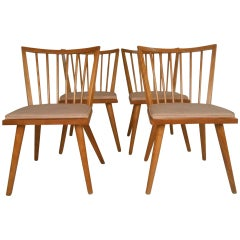 Leslie Diamond Dining Chairs by Conant Ball