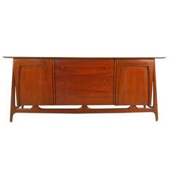 Mid-Century Modern Nine-Drawer Dresser after Piet Hein