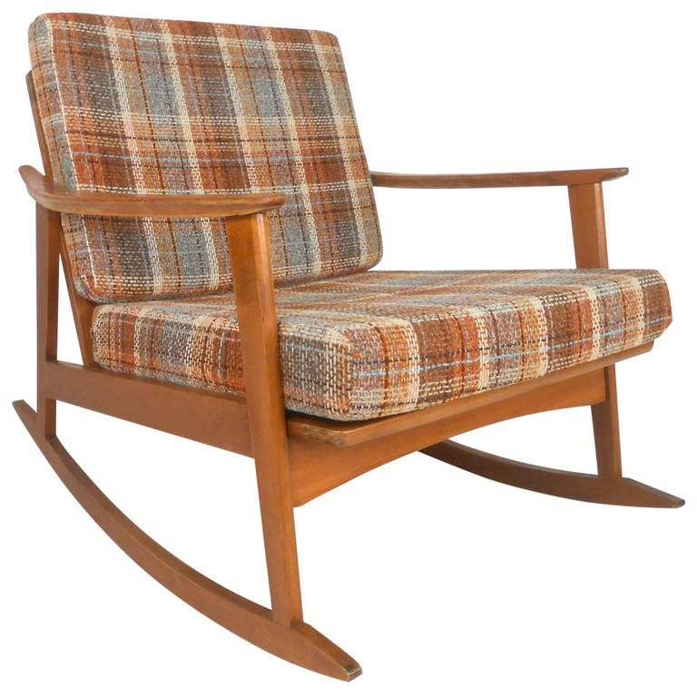 Mid century modern rocking chair for sale at 1stdibs - Rocking chair moderne ...