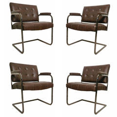 Set of Tufted Mid-Century Chairs by Patrician