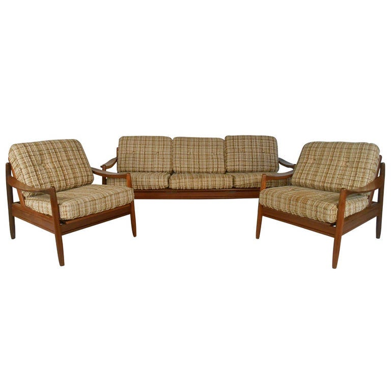 Mid Century Danish Modern Teak Living Room Set For Sale At 1stdibs
