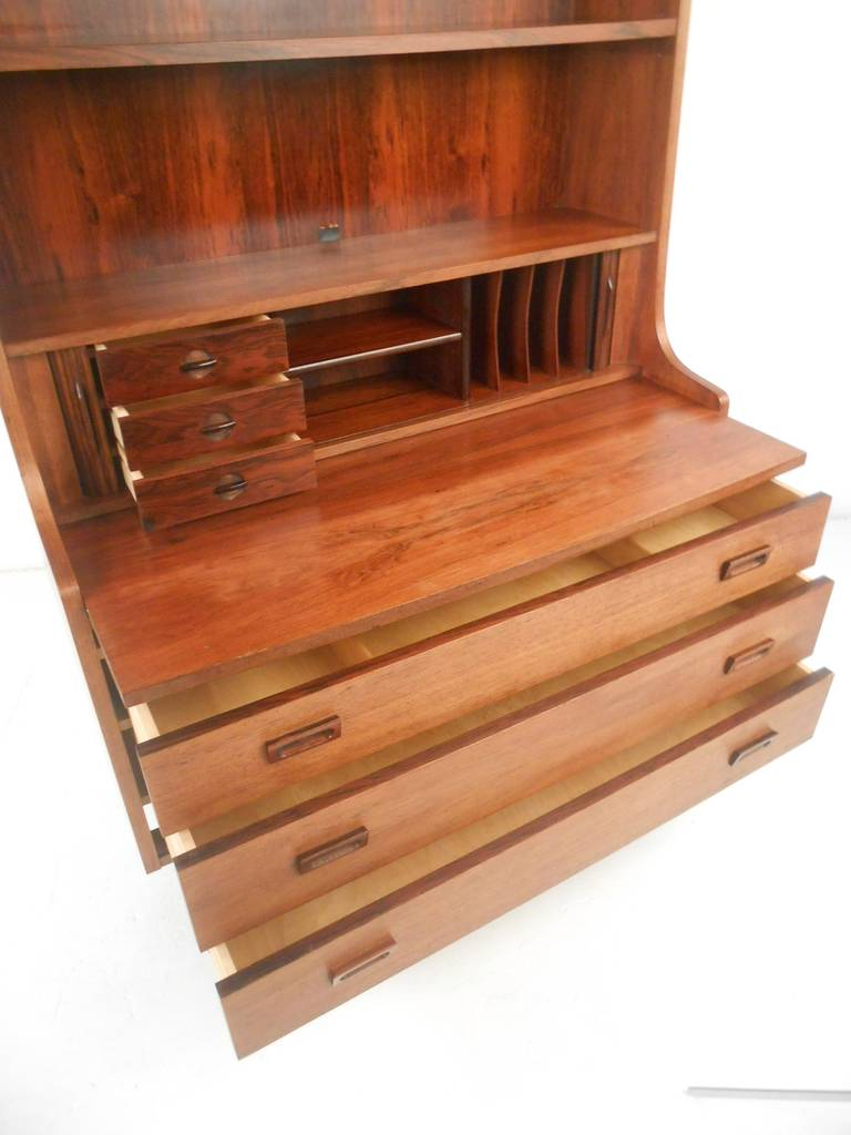 Mid-20th Century Danish Bookcase/Desk in Rosewood For Sale