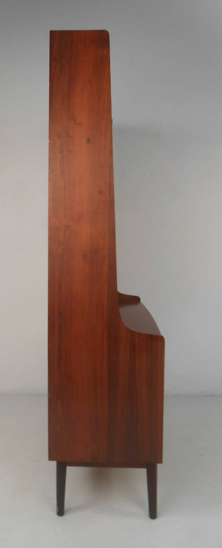 Danish Bookcase/Desk in Rosewood For Sale 4