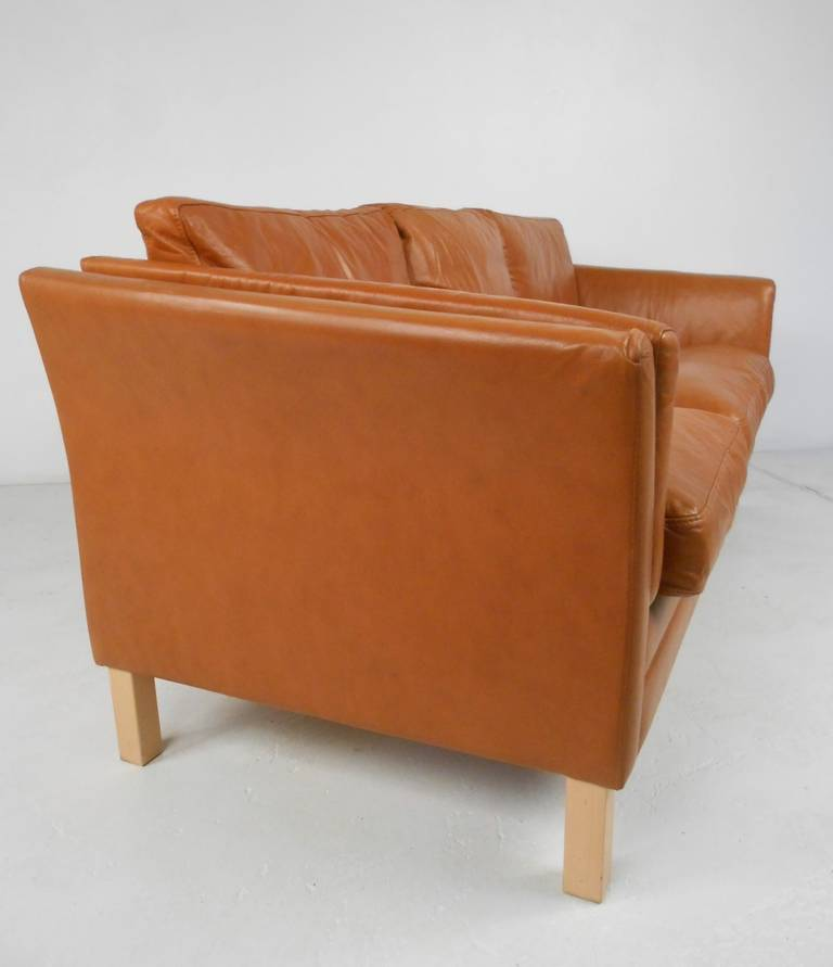 Classic Scandinavian Style Leather Sofa At 1stdibs