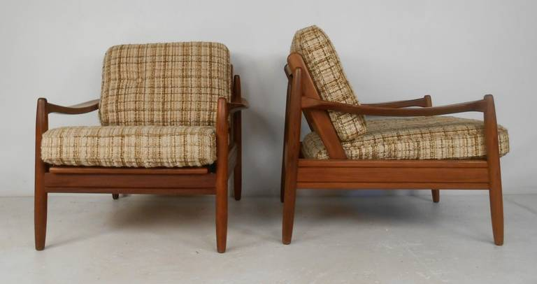Mid Century Danish Modern Teak Living Room Set For Sale At
