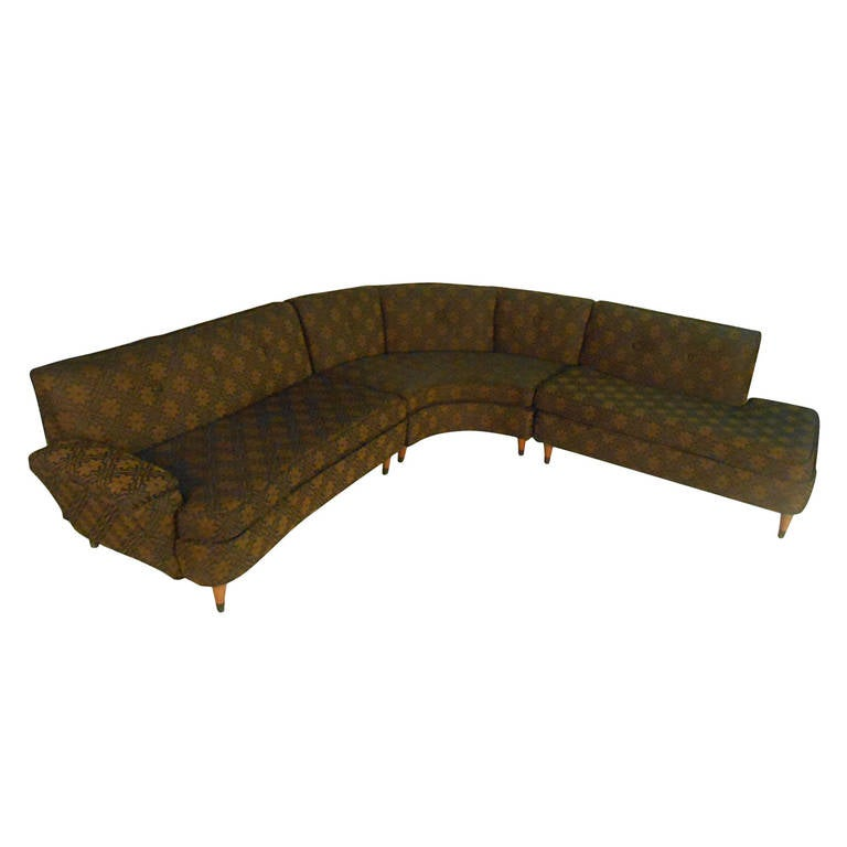 Vintage Modern Corner Sofa For Sale at 1stdibs