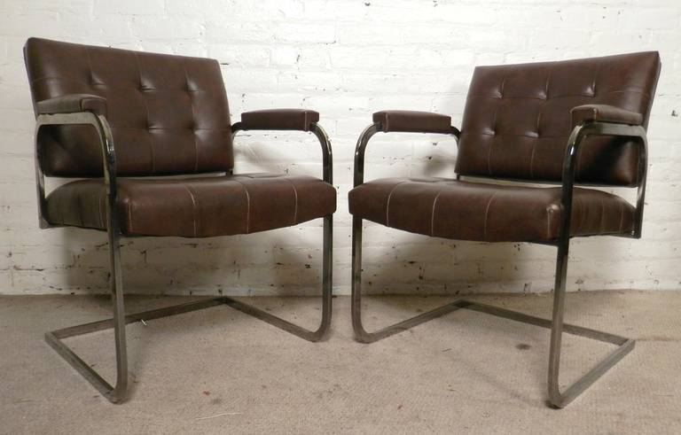 Set Of Tufted Mid Century Chairs By Patrician For Sale At 1stdibs
