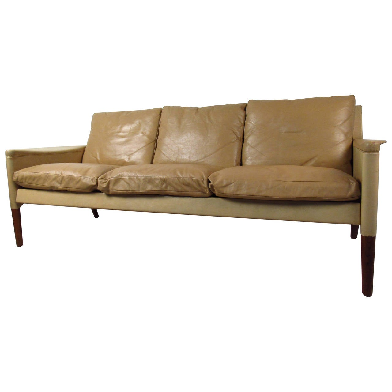 Danish modern leather sofa for sale at 1stdibs for Modern sofas for sale