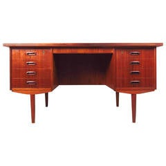 Scandinavian Modern Teak Double-Sided Desk