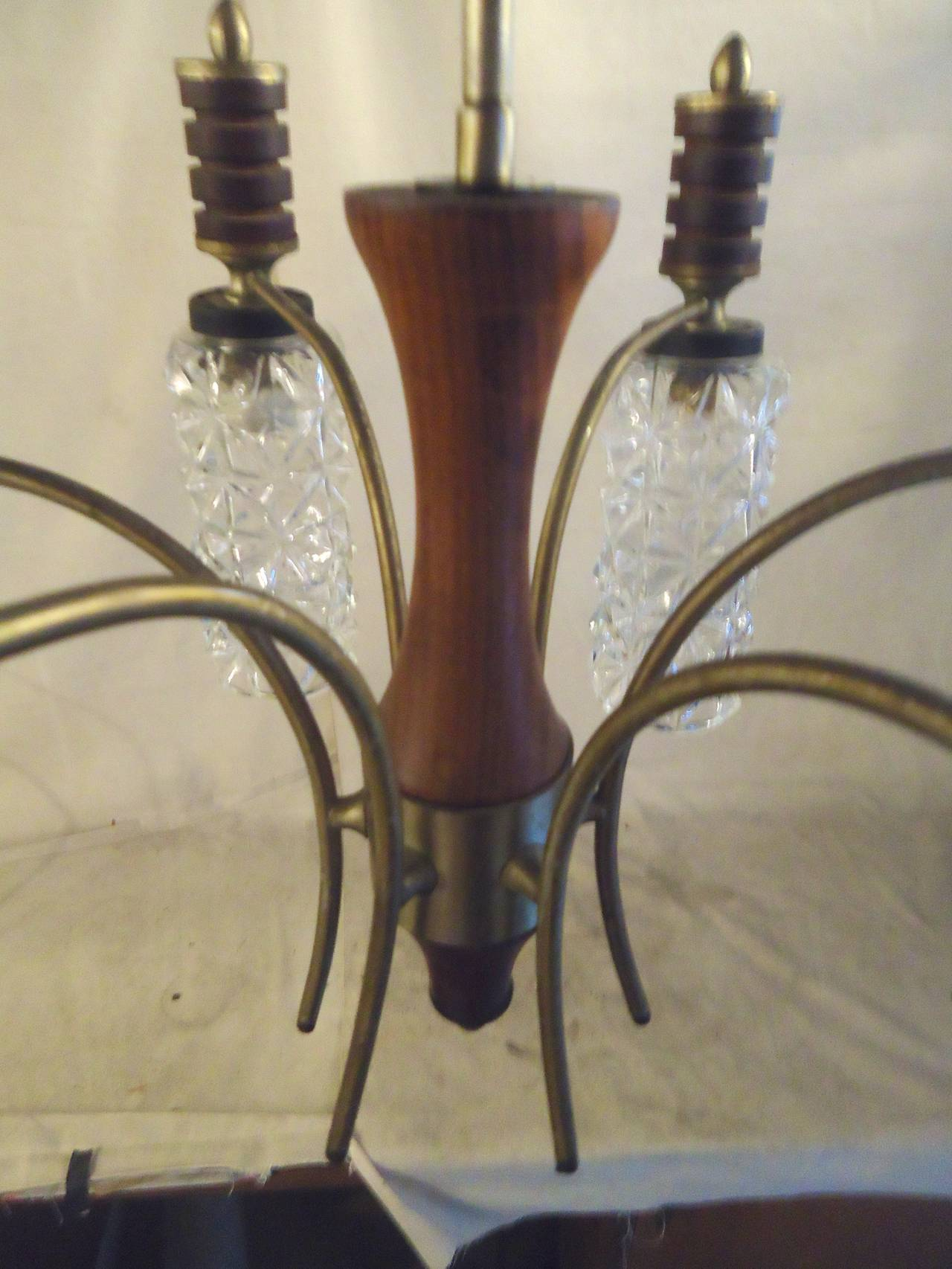 Cut Glass Chandelier For Sale 1